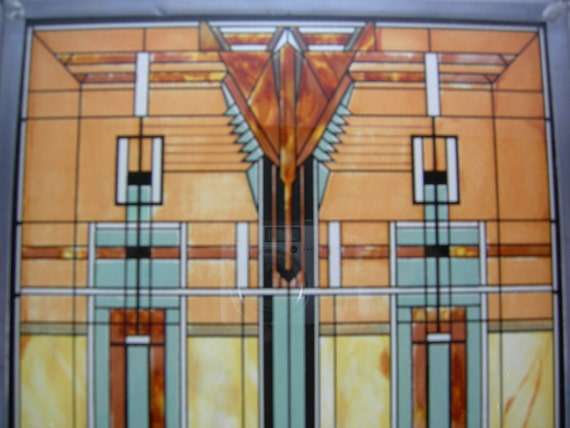 Stained Glass Frank Lloyd Wright Foundation Framed By