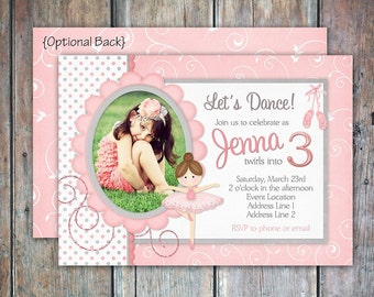 Ballerina TuTu Birthday Invitation