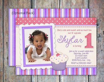 Lil Cupcake Birthday Invitation