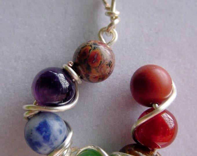 7 Chakra Pendant - Gemstones, Balance, Sterling Silver Upgrade, Reiki Jewelry, Spirituial, Chakra Jewelry, Valentines Day Gift Idea