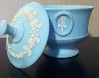 Westmoreland Blue Glass Candy Dish