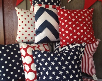 Patriotic pillow covers (pick two)