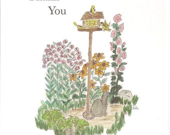 Birdfeeder thank You card