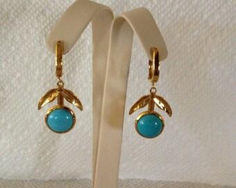 Natural Sleep Beauty Turquoise earrings