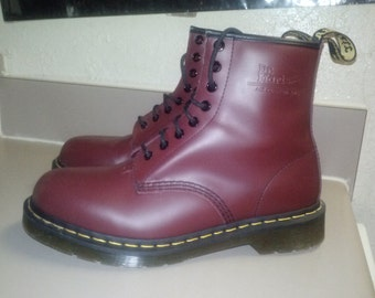 Doc Marten Boots RED Mens Size 9 US/ 8 UK