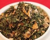 Herbal Tea: Evening Comfort Relaxation - Peppermint, Ginger Root, Lemon Tisane (No Caffeine)