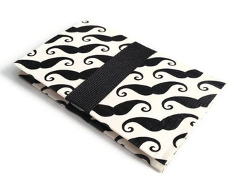 MADE TO ORDER Business Card Case Duck Tape Mustache Wallet