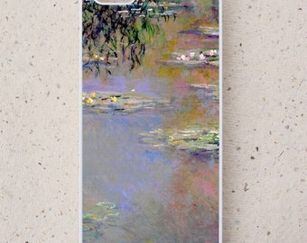 iPhone Cover(all models) - Waterlilies - Monet - smartphone - Famous Art - Samsung Galaxy S3 S4 S5 mini S6 S7,HTC,LG and more models