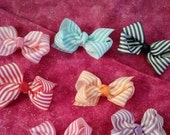 boutique bow- doggie bow- rubberband hair bow-  pet hair accessory - small hair bow- basic hairbow- basic dog bow
