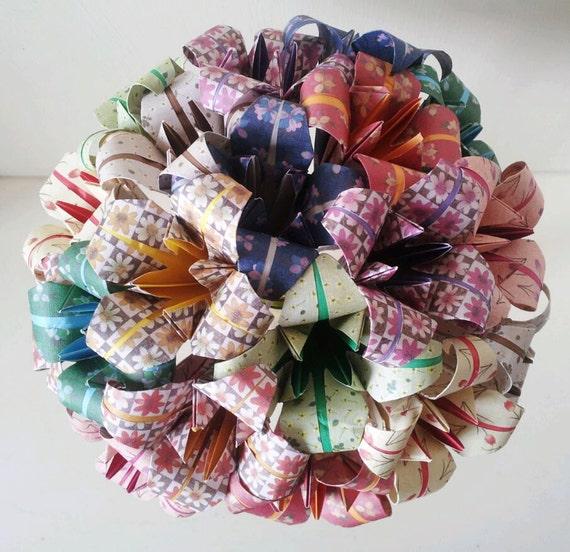 fleurs papier origami lys bouquet mariage papier anniversaire. Black Bedroom Furniture Sets. Home Design Ideas