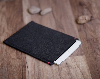 LG G Pad 8.3 case sleeve cover, anthracite felt with color accent