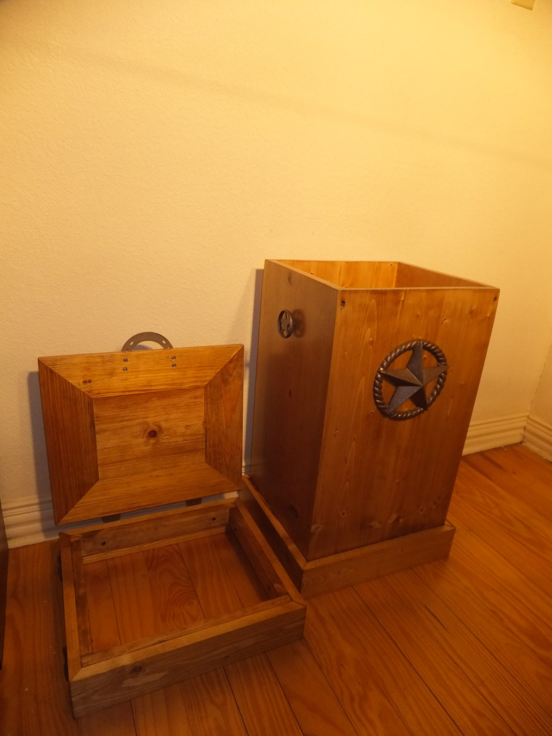 30 Gallon Wood Trash Can