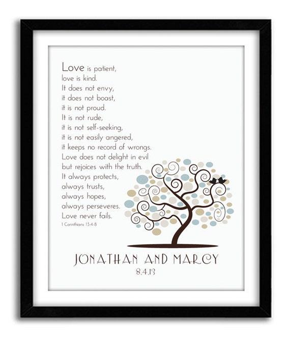Wedding Bible: Wedding Bible Verse 1st Corinthian 13 Customized Wedding/