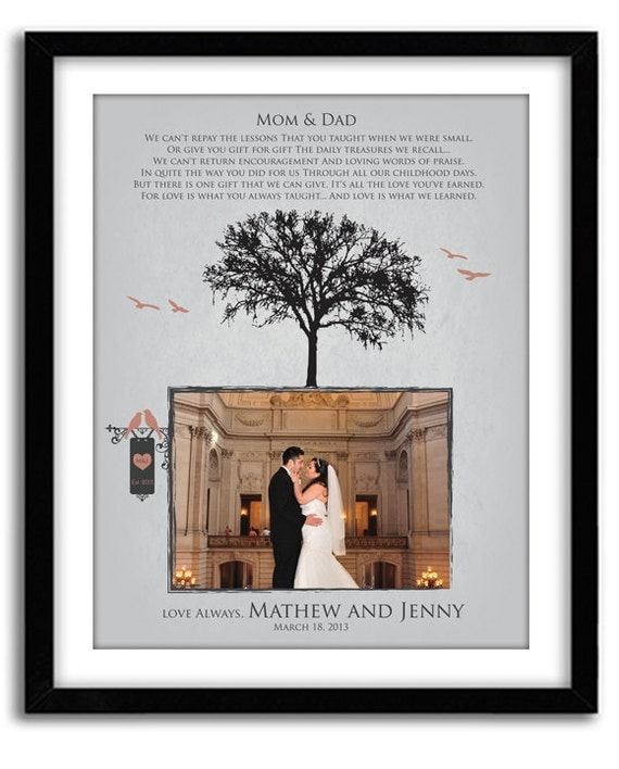Wedding Gifts Parents: Parents Thank You Gift Wedding GIft For Parents From Bride
