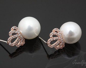 C776- 5 pairs - Pink Gold plated
