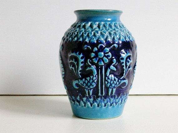 Vintage Bay Keramik Ceramic Vase Bodo Mans 1960s West Germany