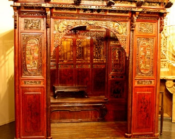 Chinese Antique Alcove Bed