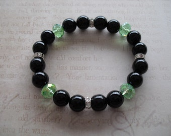 Light green crystal bracelet