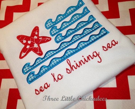 sea to shining sea flag patriotic tshirt or one piece free