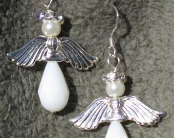 Angel earrings