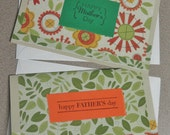 """Reserved for Adelina G. 2 Set- """"Happy Mothers Day"""" & """"Happy Fathers Day"""" Matching Card Set"""