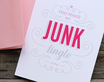 Junk Tingle Greeting Card