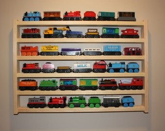 Train Rack Basic - Thomas the Tank Wooden Train Display and Storage Wall Rack