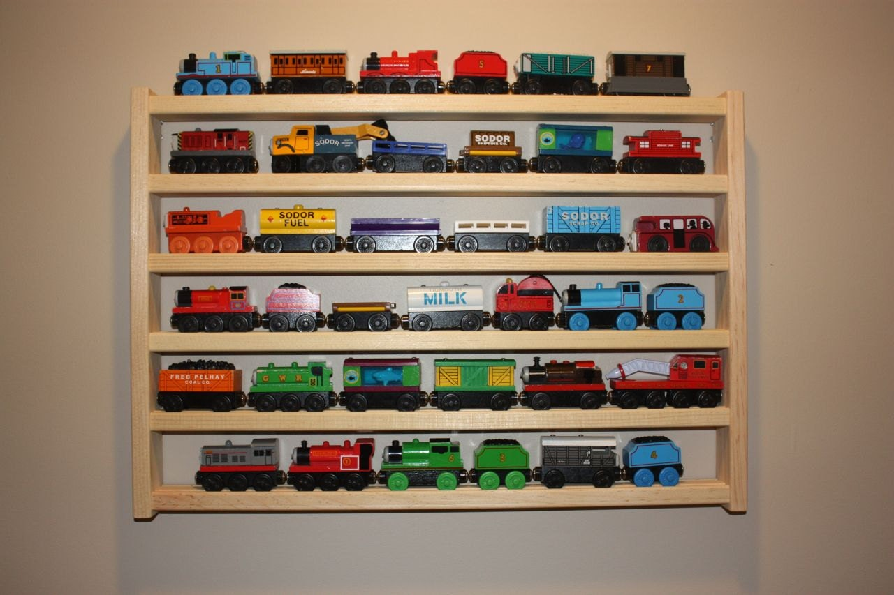 Train Wall Decor train rack basic thomas the tank wooden train display and