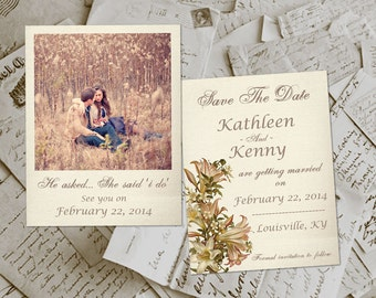 "Save The Date Cards - JavesHill Photo Personalized 4.25""x5.5"""