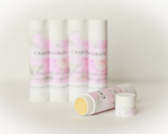 All Natural Lip Balm - Chapstick - Cocoa Butter and Beeswax Lip Balm in Many Flavors - Simple Sincerity Chapstick