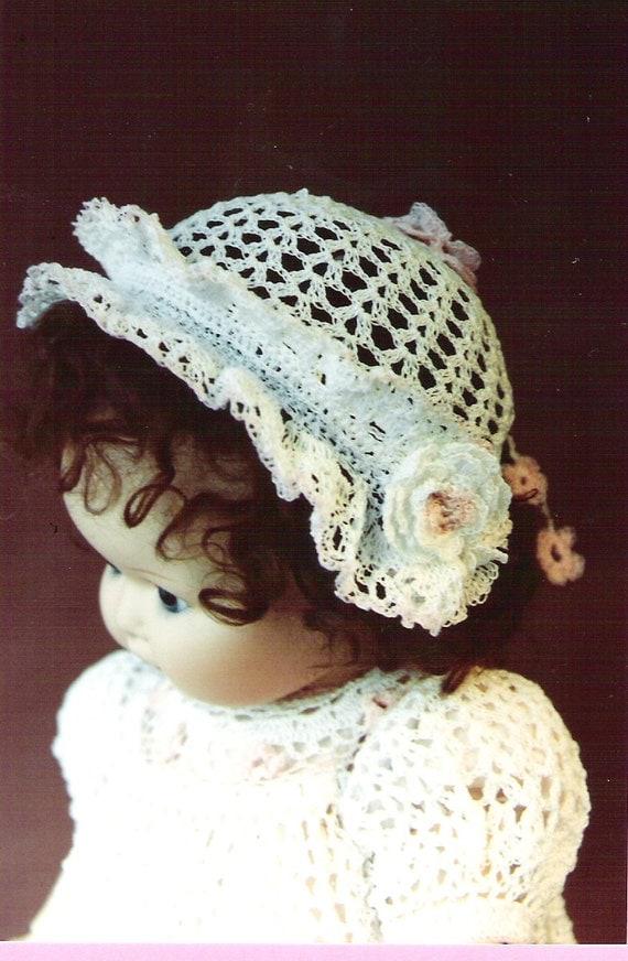 108 Baby Crochet Bonnet & Booties Pattern by LorraineBridal