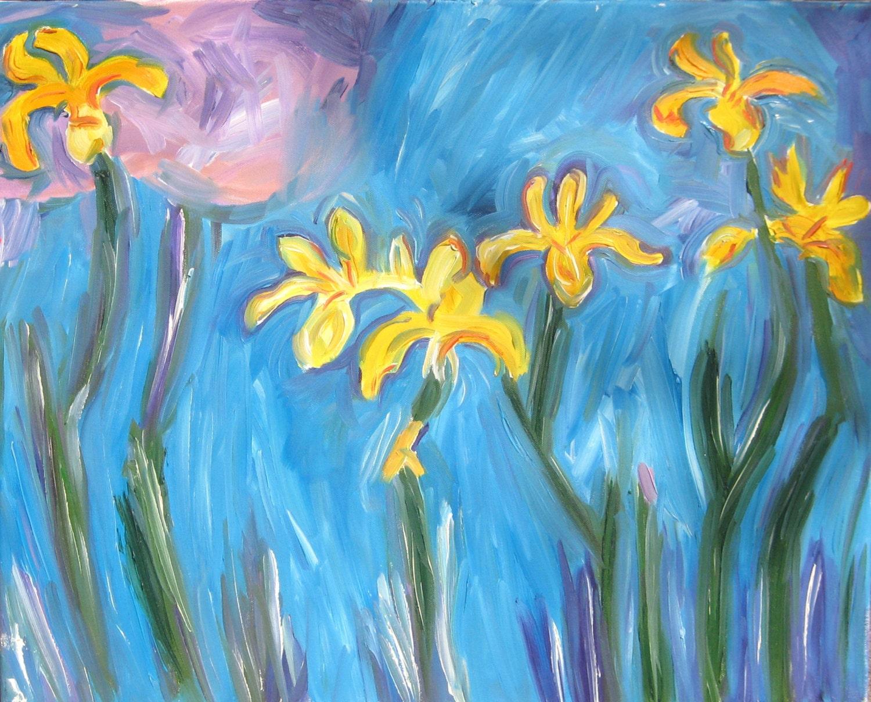 Ibrido di monet e fiore nolde dipinti pittura ad olio for Fiori di ciliegio dipinti