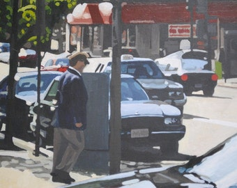 Street Scene with Buick