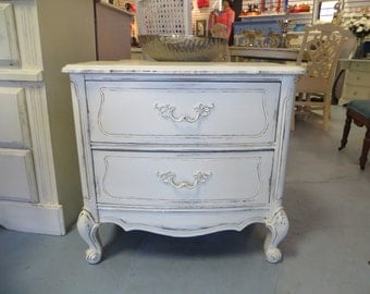 Shabby Chic Vintage Night Tables