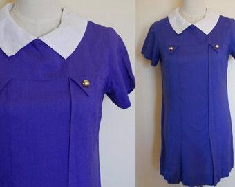 vintage purple dress // 60s mini dress // vintage mod dress // vintage tunic