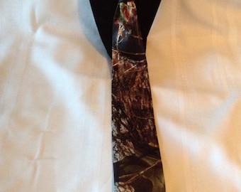 Mossy Oak Satin Camo Traditional Tie