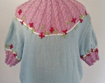 1950s reproduction daisy jumper from original 50s knitting pattern