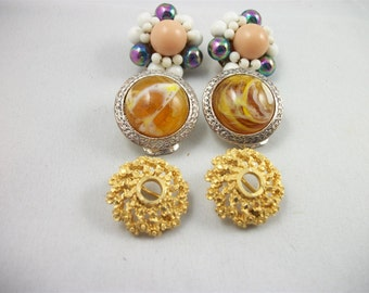 Vintage Clip-On Earrings, Set No. 4.