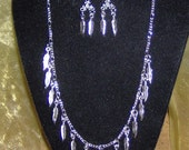 Jewelry / Necklace and Earrings / Handmade / Silver feathers