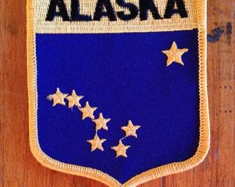 Alaska State Flag Vintage Travel Patch