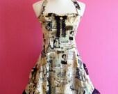 Sew Chic...Goth Lolita Steampunk Halter Neck Bustle Paris Dress JSK