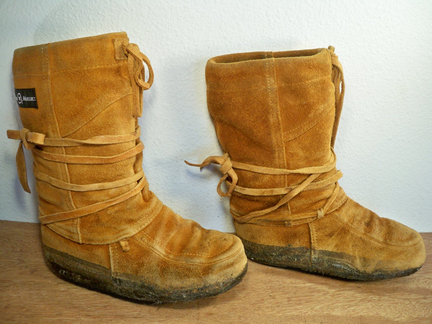 Vintage steger mukluks traditional ojibwa short brown by tyjahn