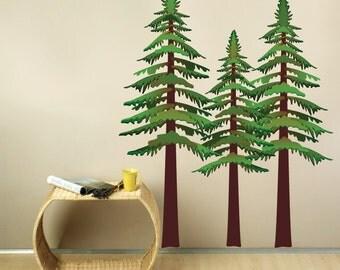 Pine Trees REUSABLE Wall Decal