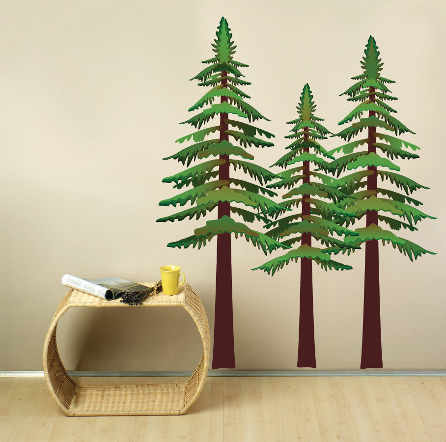 Pine Trees Wall Decal. 🔎zoom