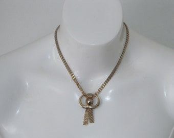 1960's, Gold Tone, Metal Mesh Chain, Necklace