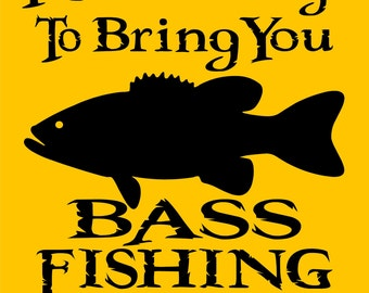 "BASS FISHING SIGN 9""x12"" Aluminum"