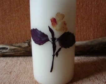 Vintage - Collectibles Candles White Big Hand Painted For Your Home Decor