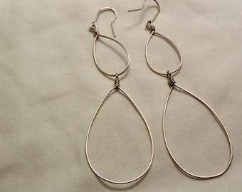 Double Drop Sterling Silver Earrings