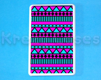 Kindle Fire Case -Pink and blue aztec pattern kindle fire case- Amazon Kindle fire touch case