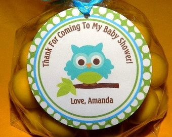 Owl Baby Shower -Owl Baby Shower Favor Tags set of 24